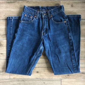 "Levi""s 562 Subtle Flare Dark Jeans"